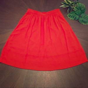 Red Aline skirt with pockets!